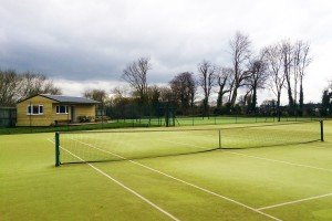 The tennis courts and club house at Pocklington Tennis Club
