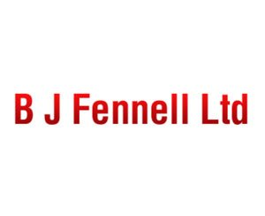 The logo for B J Fennell Ltd, sponsors of Pocklington Tennis Club