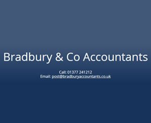 The logo for Bradbury & Co Accountants, sponsors of Pocklington Tennis Club
