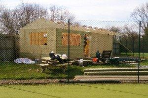 Construction work at Pocklington Tennis Club