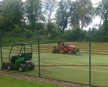 Pocklington Tennis Club's court refurbishment in progress