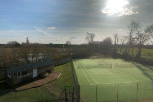 Pocklington Tennis Club from the air