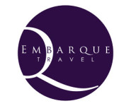 The logo for Embarque Travel, sponsors of Pocklington Tennis Club