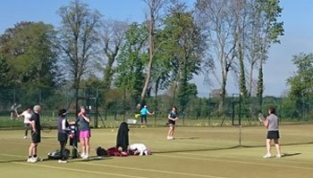 Members playing tennis at Pocklington Tennis Club