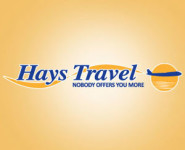 The logo for Hays Travel, sponsors of Pocklington Tennis Club