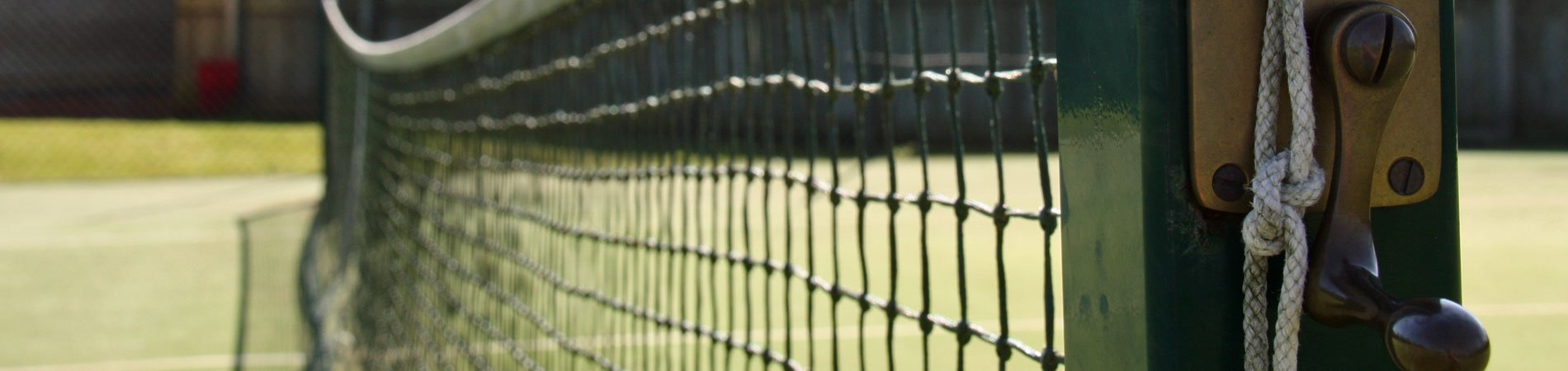 A close up of a tennis net at Pocklington Tennis Club