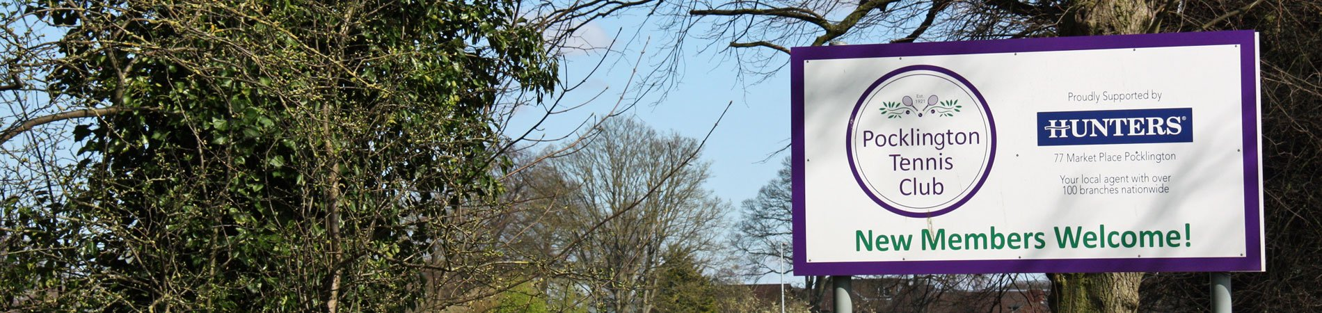 The roadside sign for Pocklington Tennis Club