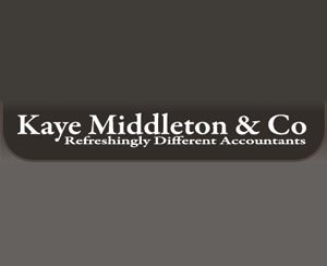 The logo for Kaye Middleton & Co, sponsors of Pocklington Tennis Club