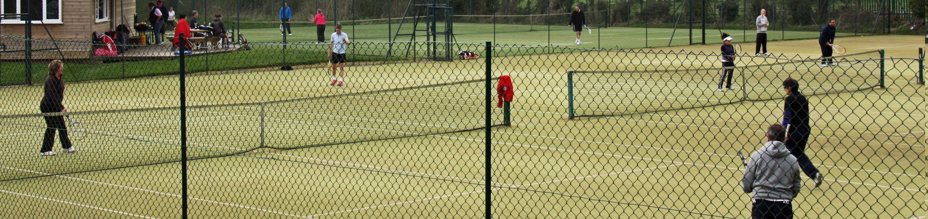 Tennis matches in progress at Pocklington Tennis Club