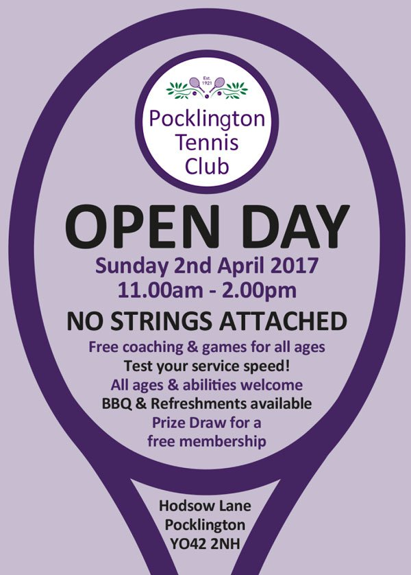 Open Day at Pocklington Tennis Club