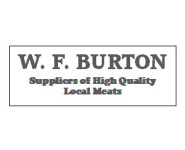 The logo for W. F. Burton, sponsors of Pocklington Tennis Club