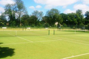 The tennis courts at Pocklington Tennis Club