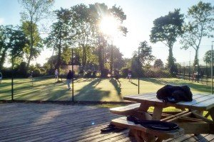 A game of tennis in the evening sun at Pocklington Tennis Club