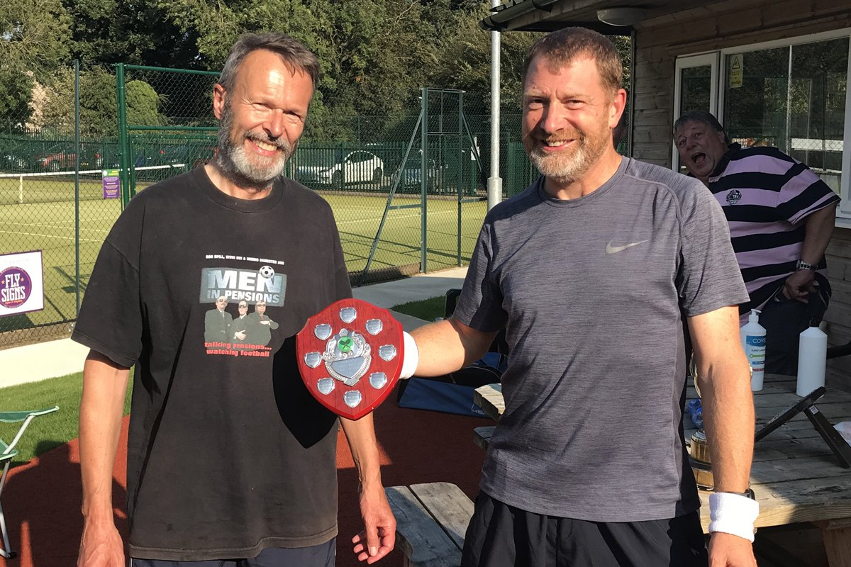 Paddy Dare and David Maultby, Men's Plate Winners 2020