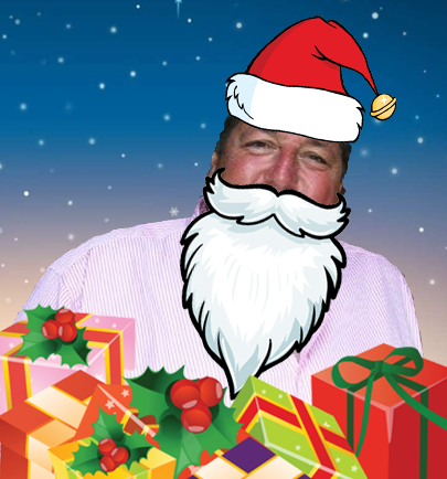 Chris French as Santa