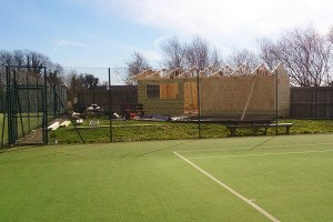 Construction work at Pocklington Tennis Club