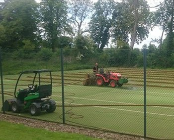Pocklington Tennis Club's court refurbishment in progress