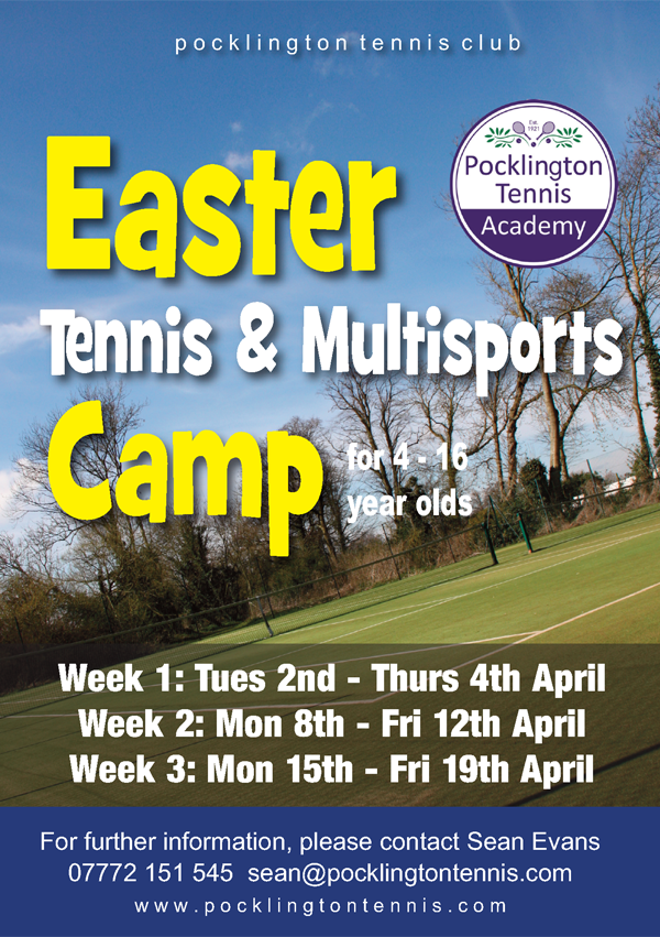 Easter camp 2019 at Pocklington Tennis Club