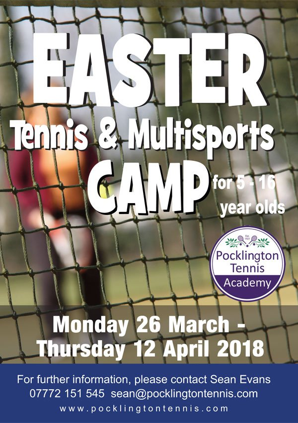 Easter Tennis and Multisports Camp 2018