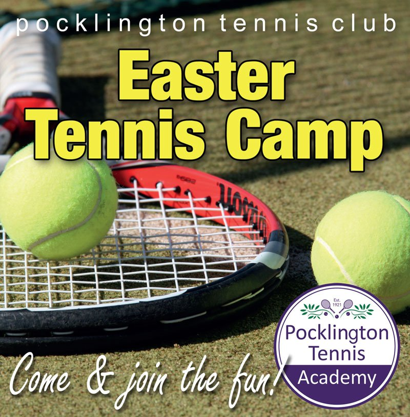 Pocklington Easter Tennis Camp advert