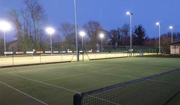 Floodlights at Pocklington Tennis Club