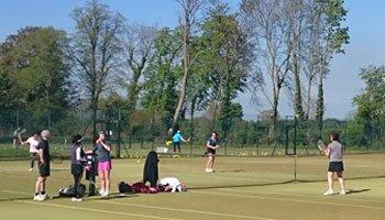 Members playing tennis at Pocklington Tennis Club