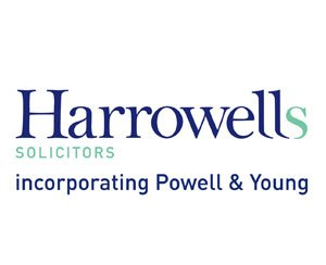 The logo for Harrowells Solicitors, sponsors of Pocklington Tennis Club