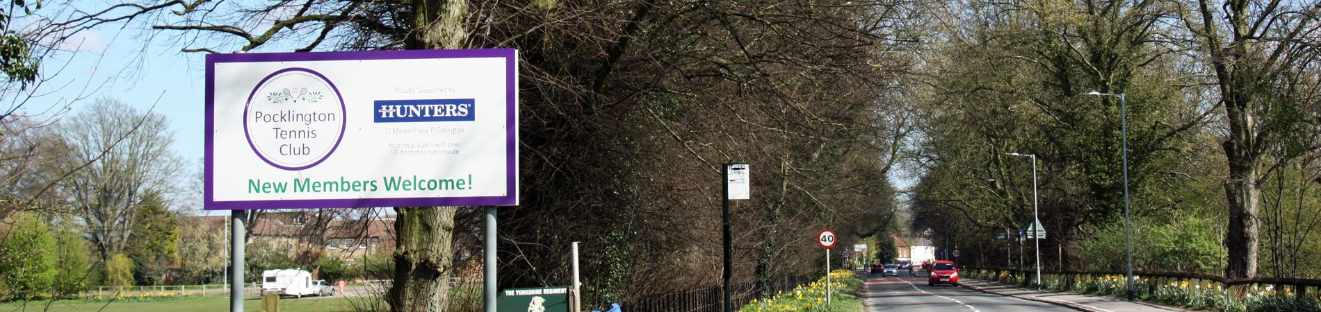 The sign showing the entrance to Pocklington Tennis Club