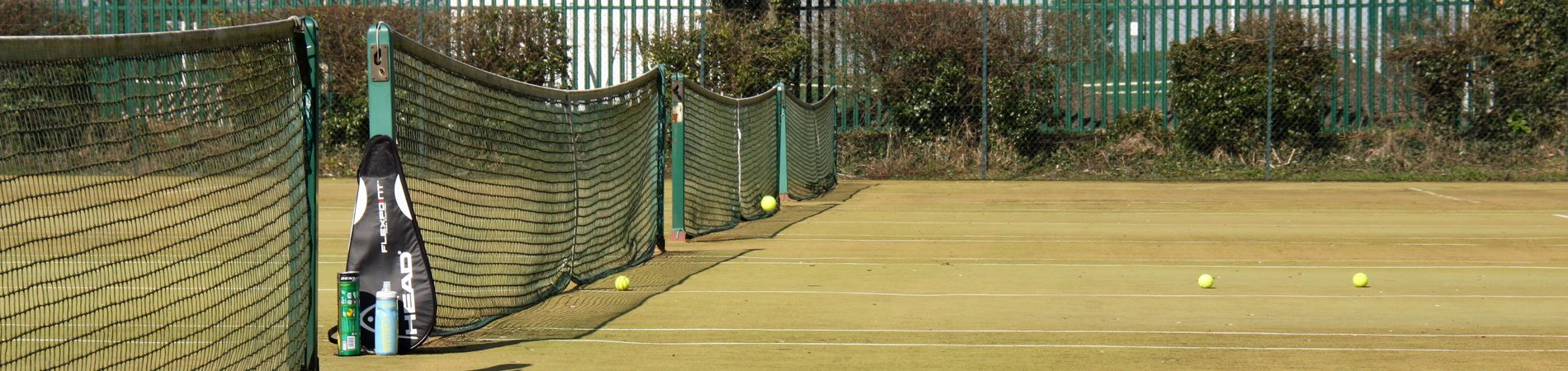 The courts at Pocklington Tennis Club