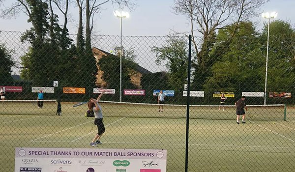 Mixed doubles at Pocklington Tennis Club