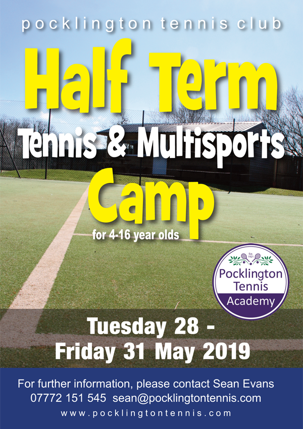 Tennis camp, May 2019