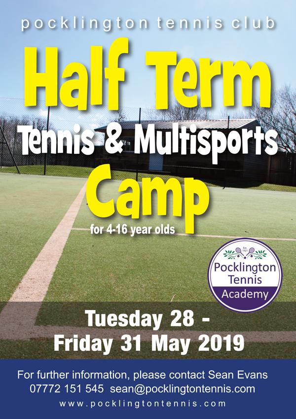 Tennis camp, May 2019
