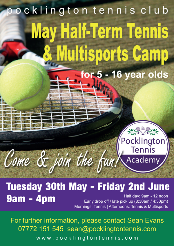 May Half Term Tennis & Multisports Camp 2017