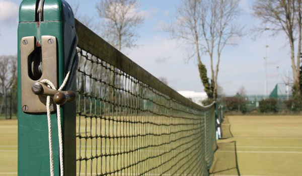 A net at Pocklington Tennis Club, East Yorkshire