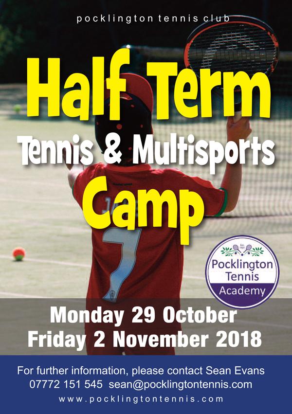 October 2018 tennis camp