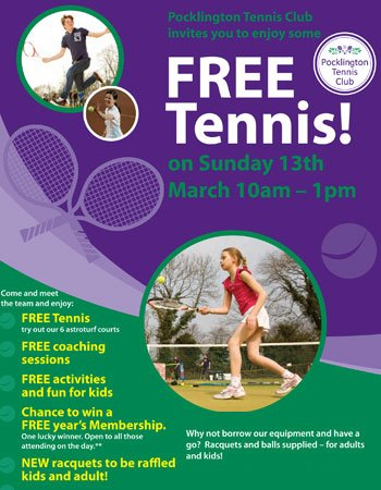 Pocklington Tennis Club Open Morning 2016 leaflet