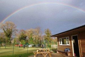 A rainbow over Pocklington Tennis Club