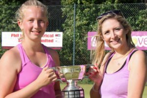 Ladies Doubles Champions 2016 - Rebecca Hill & Vicky Bland