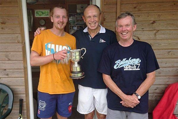 Adam Smith and Trevor Loten with Tournament organiser Ross Gleig