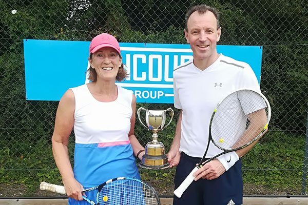 Sue Sumner and Dave Gamble, Mixed Doubles Winners 2019