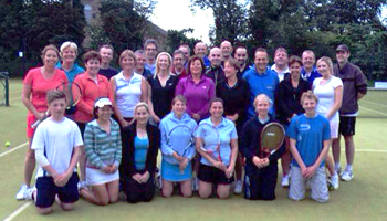 Team members at Pocklington Tennis Club