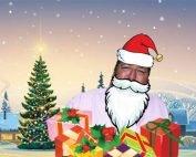 Chris French as Santa in a winter scene